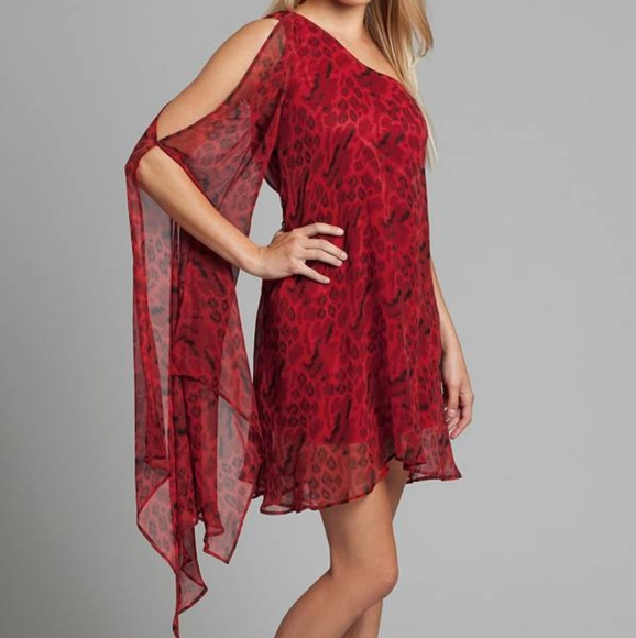 44e0b677002 Marciano One Shoulder Silk Mini Dress